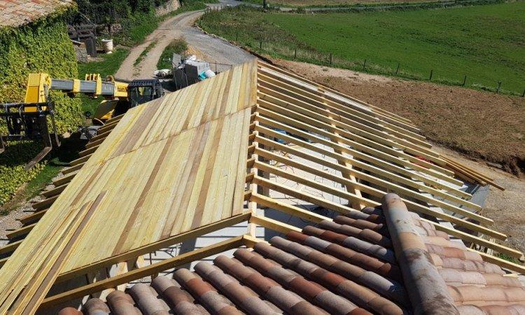 volliges - Création d'une toiture à Anse